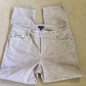 NYDJ skinny print jeans